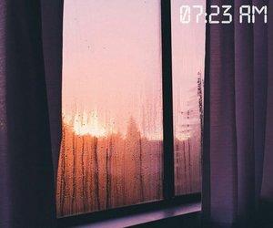 rainy, sun, and sunset image
