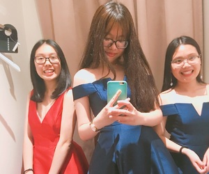 asian girls, girly, and formal dress image
