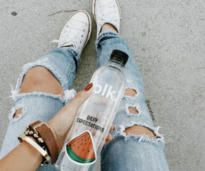 fashion, jeans, and water image
