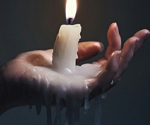 ✌ and burning candle image