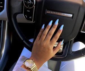 nails, car, and blue image