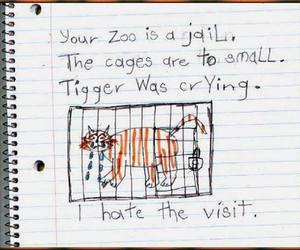 zoo, tiger, and jail image