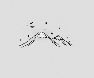 moon, mountains, and stars image