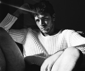 Hot, man, and black and white image