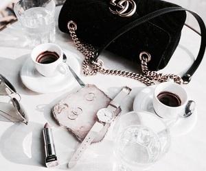 fashion, coffee, and gucci image