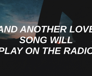 aesthetic, music, and lyrics quotes image