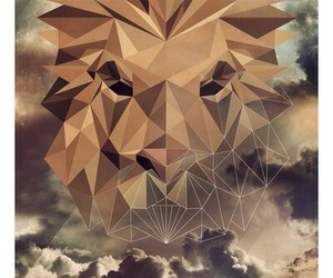 graphic, lion, and roar image