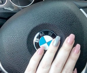 bmw, nails, and pink image