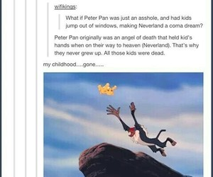 funny, peter pan, and tumblr image