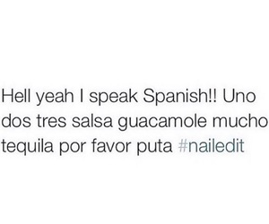 spanish, funny, and tequila image