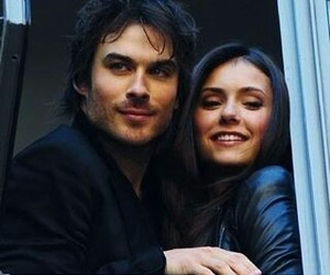 ian somerhalder, Nina Dobrev, and elena gilbert image
