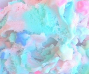 pastel, blue, and ice cream image