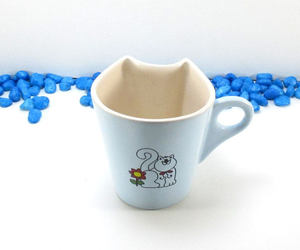 etsy, pottery cat mug, and cat lover gift image