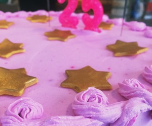 bday, pink, and cake image
