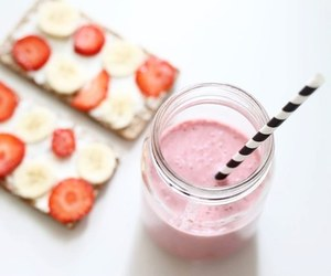 food, smoothie, and healthy image