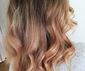 blonde, brown, and curl image