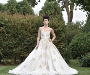 ball gown, bride, and wedding image