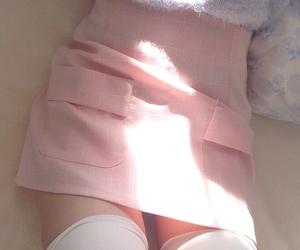 girl, pink, and skirt image