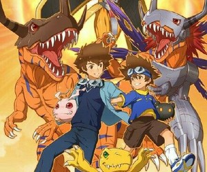 anime, digimon, and agumon image