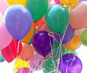 colorful, balloons, and pretty image
