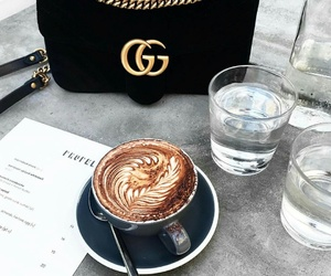 coffee, gucci, and drink image