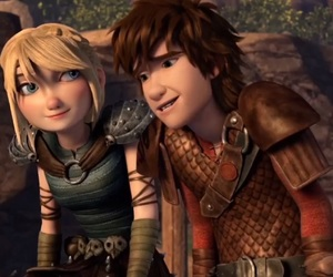 astrid, hiccup, and rtte image