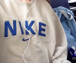 nike, blue, and tumblr image