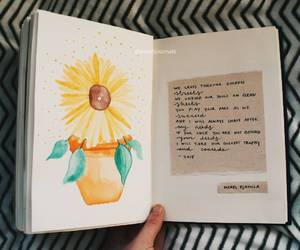 art, art journal, and flowers image