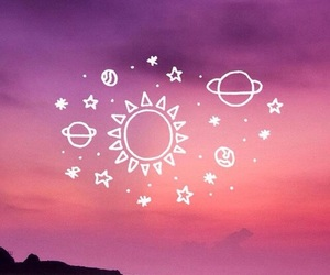 galaxy, hipster, and planets image