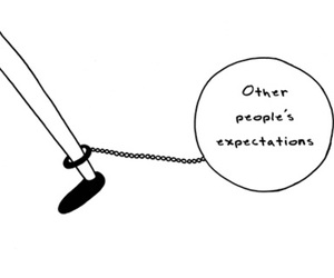expectations, people, and quote image