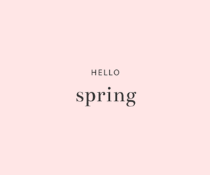 spring, hello, and pink image