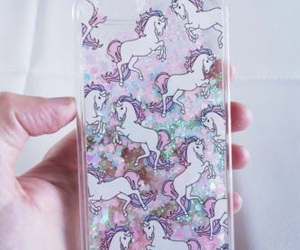 unicorn, glitter, and girly image