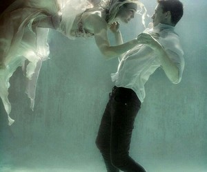 couple, love, and water image