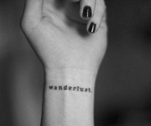 tattoo, wanderlust, and cute image
