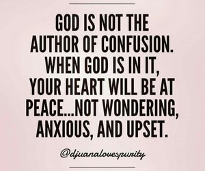 anxious, confusion, and god image