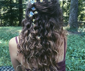 aesthetic, curly, and curly hair image