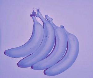 banana, purple, and pastel image