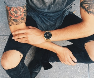 tattoo, boy, and style image