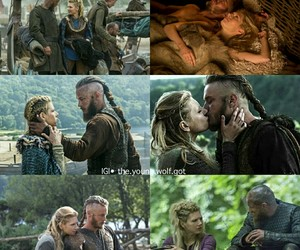 vikings, ragnar, and lagertha image