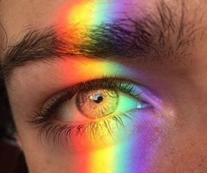 rainbow, eyes, and aesthetic image