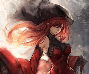 anime, girl, and red hair image