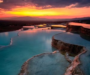 turkey, nature, and pamukkale image