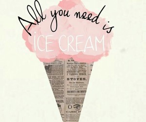 quotes, ice cream, and wallpaper image