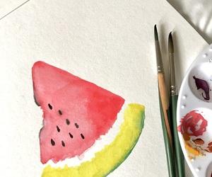art, food, and lime green image