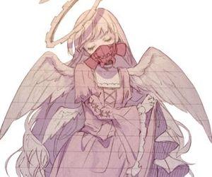 angel, anime, and gas mask image