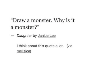 quotes, monster, and draw image