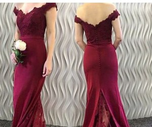 mermaid prom dresses, lace prom dresses, and appliques prom dresses image