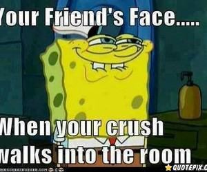 crush, funny, and friends image
