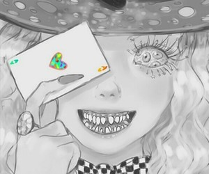 saccstry, alice in wonderland, and mad image