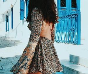 boho, dress, and Flowy image